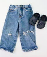 Crocs and Frayed Jeans Bundle, 1-2T