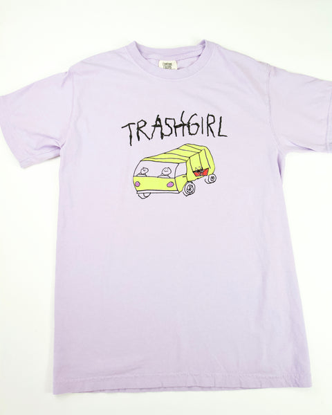 ORCHID TRASH TEE, ADULT
