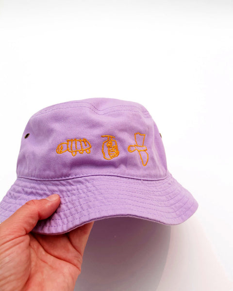 PREORDER BY HER OWN SELF, LAVENDER BUCKET HAT
