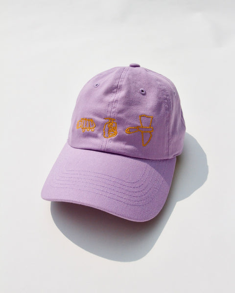 BY HER OWN SELF, LAVENDER BASEBALL HAT