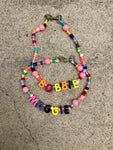 Bubble Bead Custom Name Necklace