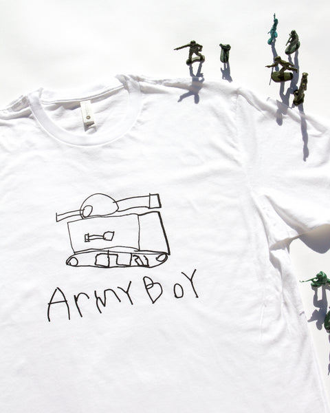 ARMY BOY/GIRL TEE, MADE TO ORDER