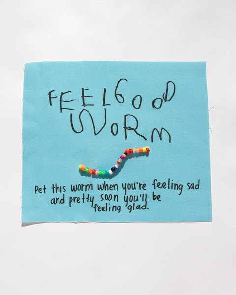 FEEL GOOD WORM, FABRIC POSTER