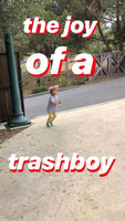 TRASHBOY TEE, YELLOW + ORANGE FLUORO