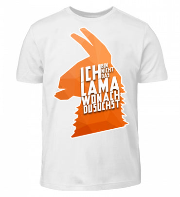 Lama (Orange)  - Kinder T-Shirt