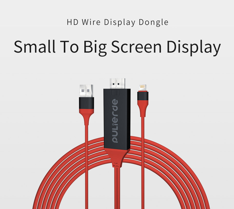 new photos 550f5 05ec0 2M MHL Lightning TO HDMI Smart Dongle Cable Lead For iPhone X iPhone 8  iPhone 7 Plus 6s 6 Plus 5