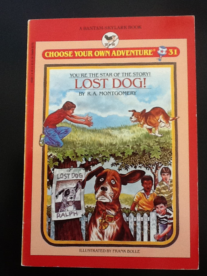 Choose Your Own Adventure Vintage Lost Dog!