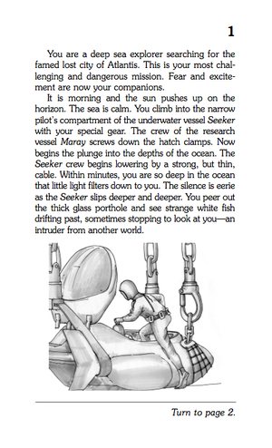 Choose Your Own Adventure interior page with image