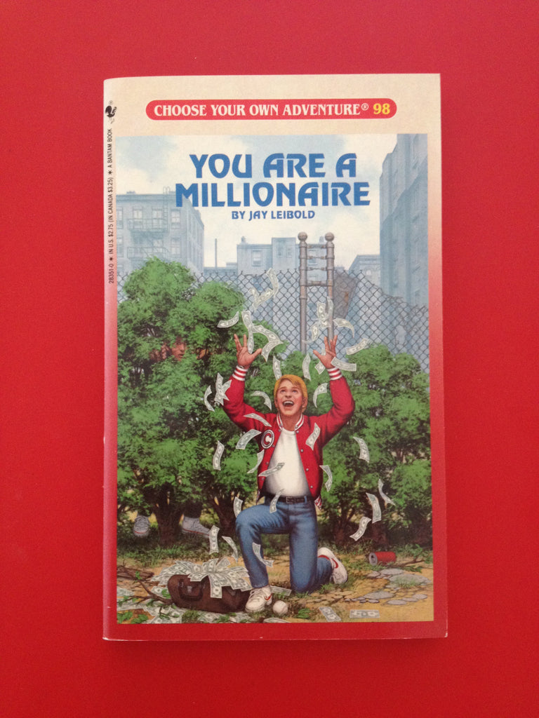 Choose Your Own Adventure Vintage  You Are A Millionaire #98