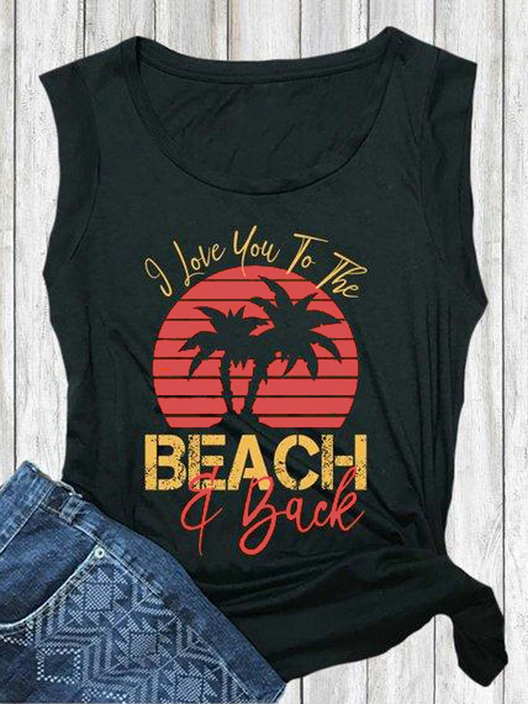 I Love You To The Beach Tank Top