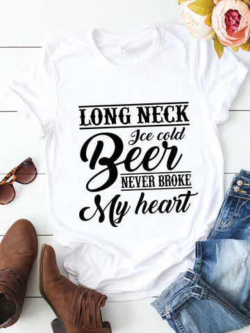 Ice Cold Beer Never Broke My Heart T-shirt