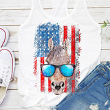 Horse American Flag Tank Top