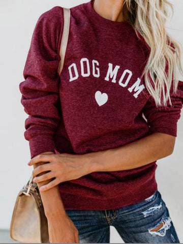 [PRE SALE] Dog Mom Heart Print Sweatshirt