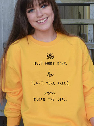 Help More Bees Sweatshirt