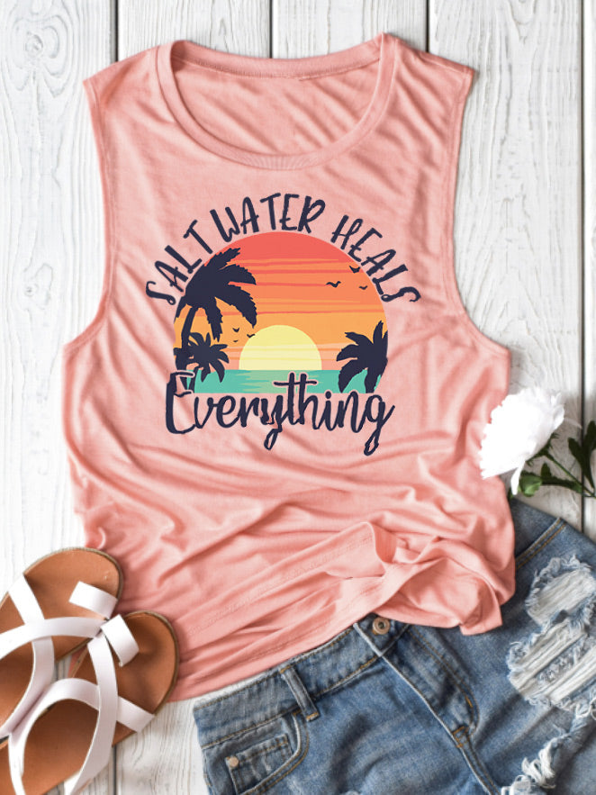 Salt Water Heals Everything Tank Top