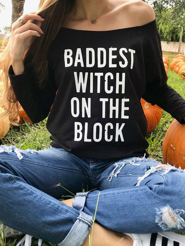 Baddest Witch On The Block Sexy T-Shirt