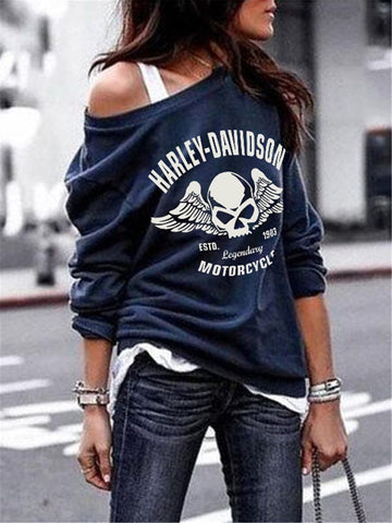 Long Sleeve Cotton Statement Sweatshirt