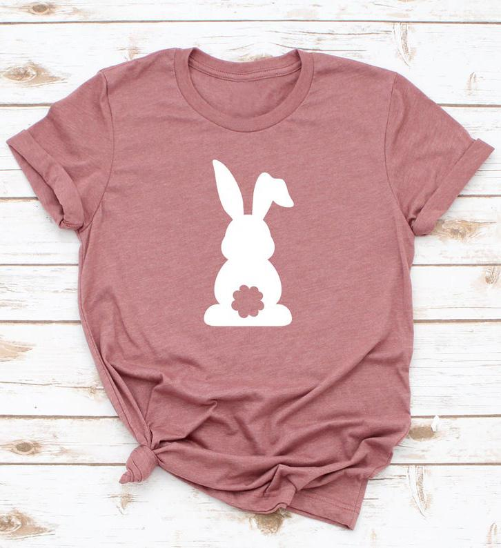 Happy Easter Cute Bunny Back T-shirt