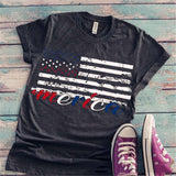 Dark Gray American Flag T-shirt