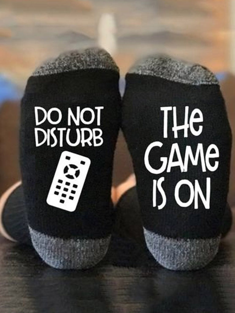 Do not Disturb The Game is On Socks