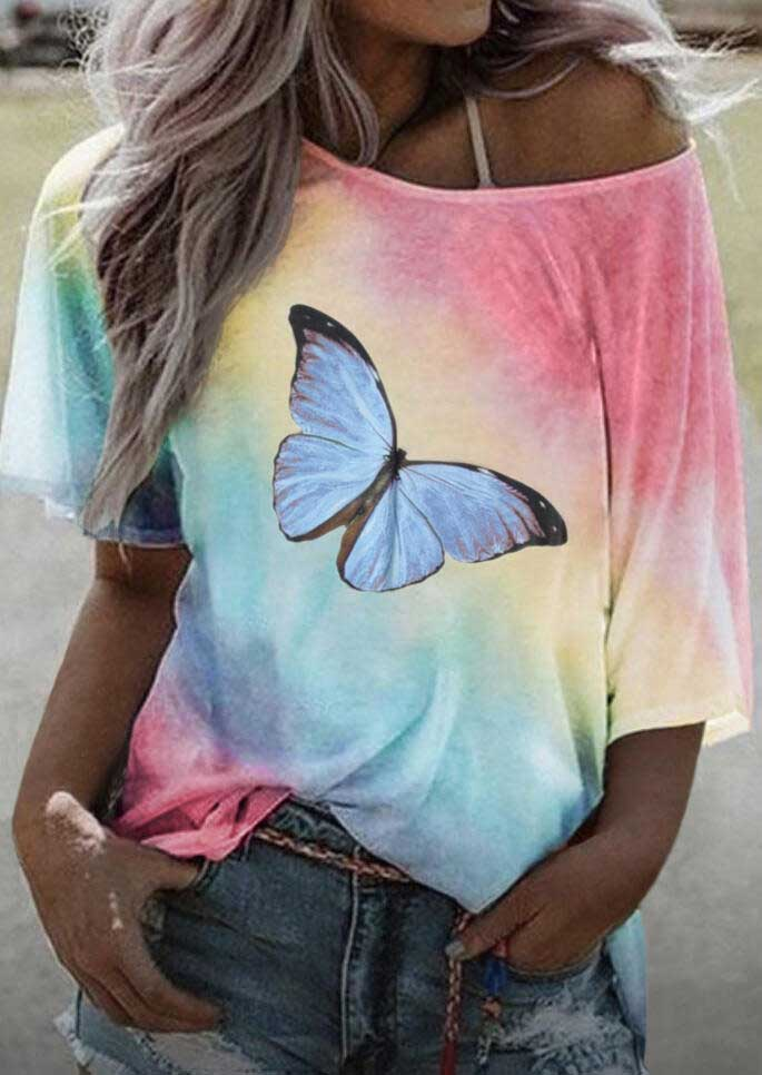 Tie-Dyed Butterfly T-Shirt
