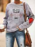 Heartbeat Of A Baseballball Addict Sweatshirt