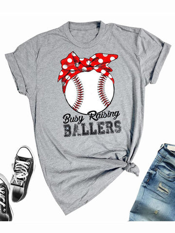Busy Raising Ballers T-shirt