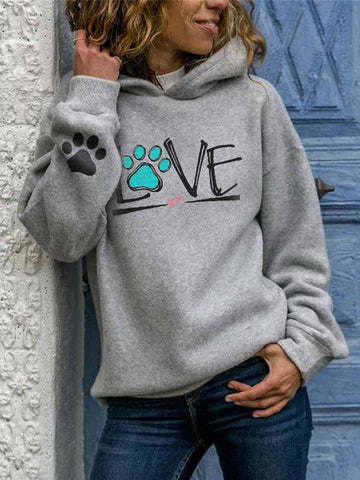 [Pre-Sale] Dog Love Heart Printed Hoodie