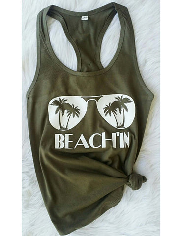 Beach In The Glasses Tank Top