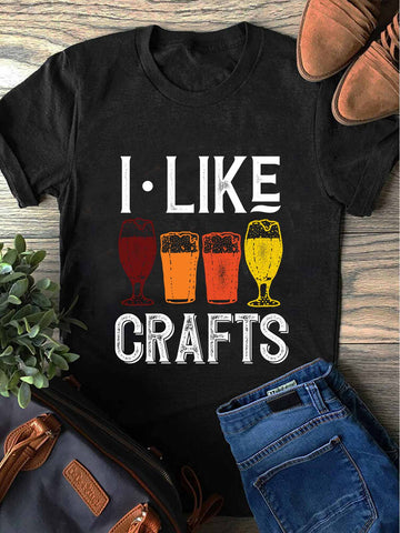 I Like Crafts Beer Brewing T-shirt