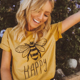 Be Happy Bees T-Shirt