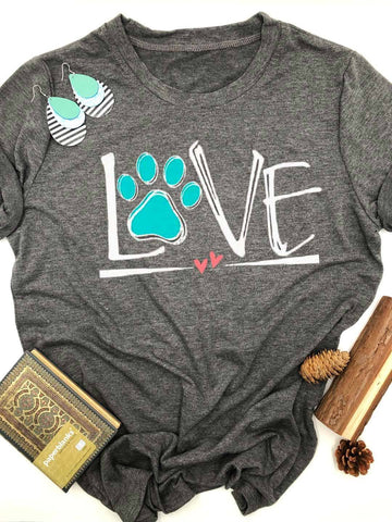 [PRE SALE] Dog Lover Paw Printed T-Shirt
