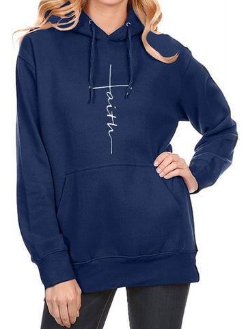Faith Pocket Solid Hoodie