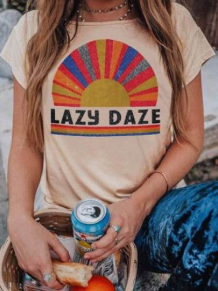Lazy Daze Short Sleeve T-shirt Top