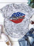 American Flag Lips T-shirt