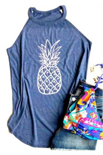 Pineapple Printed Tank Top