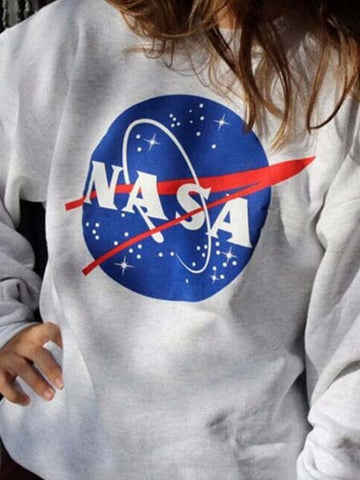Nasa Printed Sweatshirt