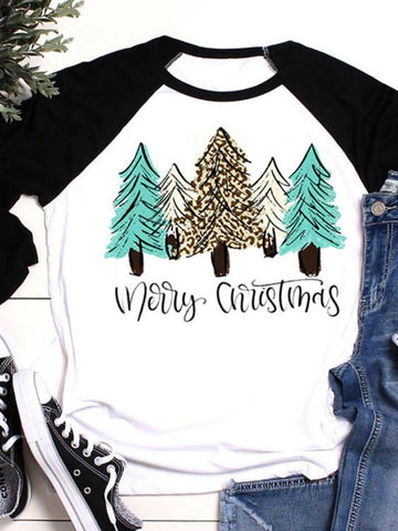 Merry Christmas Trees T-shirt