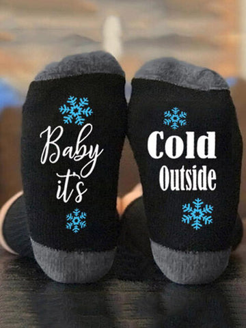 Baby It's Cold Outside Socks