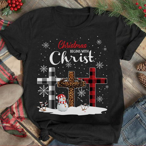 Christmas Begins With Christ T-shirt