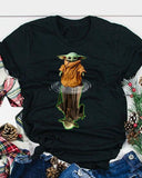 [PRE SALE] Baby Yoda And Yoda Water Reflection T-shirt