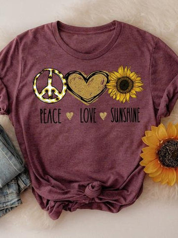 Peace Love Sunshine Tee