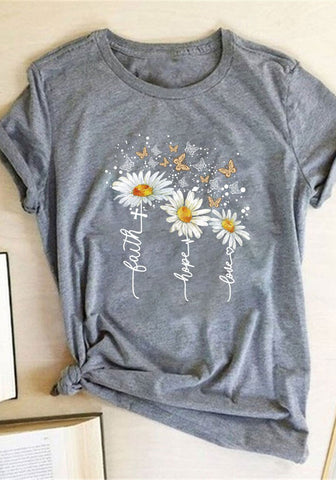 Lauth Sunflower Butterfly Tee