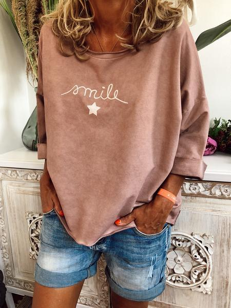 Smile Vintage 3/4 Sleeve Cotton Shirts