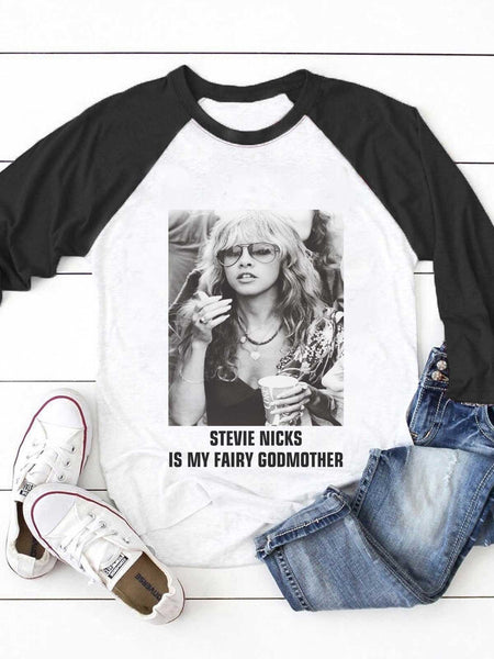 Stevie Nicks Is My Fairy Godmother Patchwork T-shirt