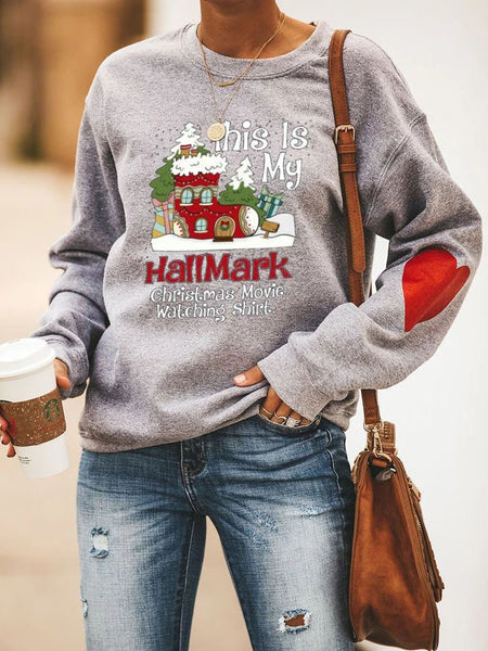 Hallmark Christmas Movie Watching Sweatshirt