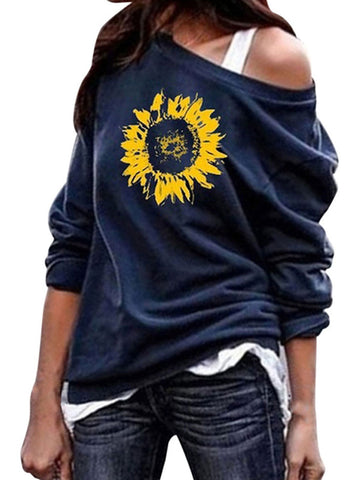 Sunflower O Neck Graphic Sweatshirt