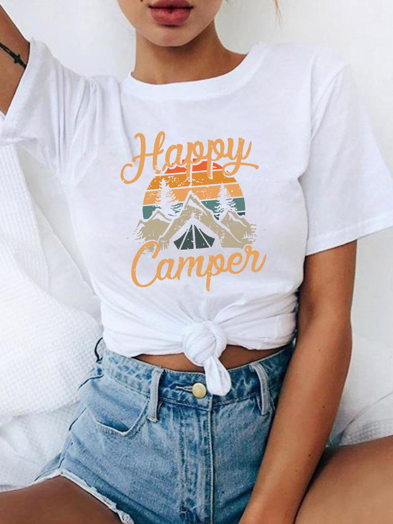 Happy Camper In Moutains T-shirt