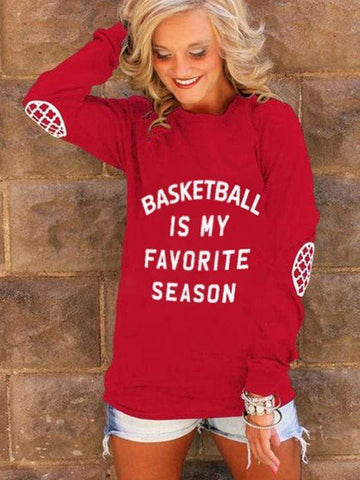 Basketball Is My Favorite Season Red Sweatshirt