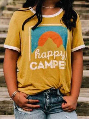 Yellow Happy Camper T-shirt